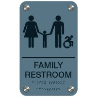 Family Restroom (Dynamic Accessibility) - Premium ADA Restroom Signs