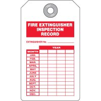 Fire Extinguisher Inspection Record Tags