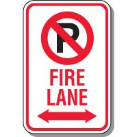 Fire Lane Signs - Fire Lane (Double Arrow)