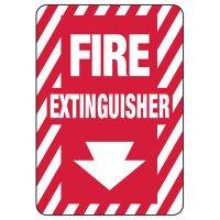 Fire Extinguisher Arrow Down - Fire Safety Sign