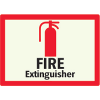 Fire Extinguisher - Photoluminescent Sign