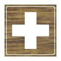 First Aid Symbol - Engraved Graphic Symbol Signs