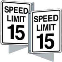 Flanged Traffic Signs - Speed Limit 15 mph