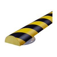 "Flat Surface Round Bumper Guard - 1-11/16""H x 4-15/16""W x 1-16/25'L"