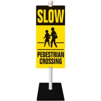 Pedestrian Traffic Warning Sign System