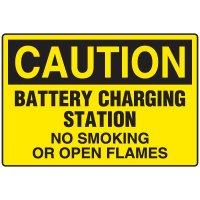 Battery Charging Station - Caution No Smoking Sign | Seton Canada