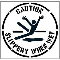 Floor Stencils - Caution Slippery When Wet