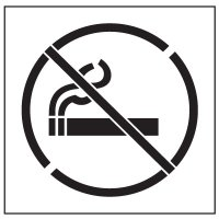 Floor Stencils - No Smoking Symbol