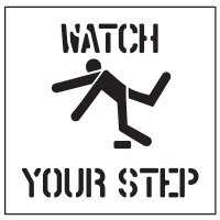 Floor Stencils - Watch Your Step