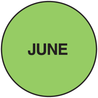 Fluorescent June Dot Labels