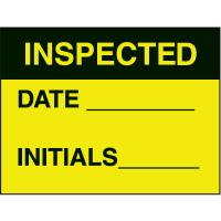 Inspected Date Initials Fluorescent Paper Labels