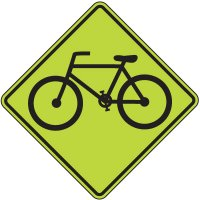 Fluorescent Pedestrian Signs - Bike (Graphic)