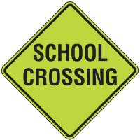 Fluorescent Pedestrian Signs - School Crossing