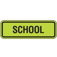 Fluorescent Pedestrian Signs - School