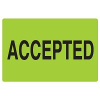 Fluorescent Warehouse & Pallet Labels - Accepted