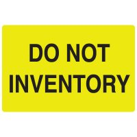 Fluorescent Warehouse & Pallet Labels - Do Not Inventory