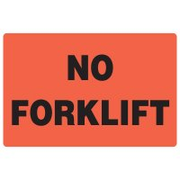 Fluorescent Warehouse & Pallet Labels - No Forklift