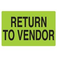 Fluorescent Warehouse & Pallet Labels - Return To Vendor