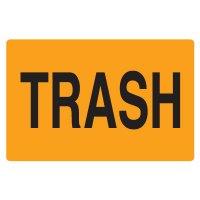 Fluorescent Warehouse & Pallet Labels - Trash