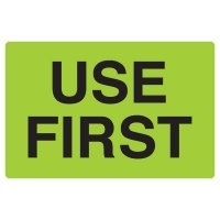 Fluorescent Warehouse & Pallet Labels - Use First