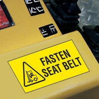 Forklift Safety Labels - Fasten Seat Belt