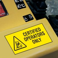 Forklift Safety Labels - Certified Operators Only
