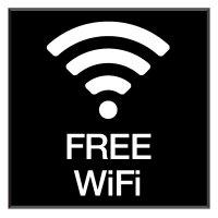 Free Wi-Fi - Engraved Wi-Fi Signs