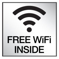 Free Wi-Fi Inside - Engraved Wi-Fi Signs