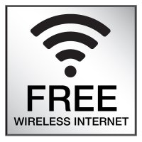 Free Wireless Internet - Engraved Wi-Fi Signs