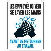 Enseignes de Sécurité - Les Employes Doivent Se Laver Les Mains