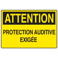 Enseignes de Sécurité - Attention Protection Auditive Exigée