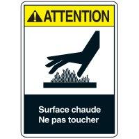 Enseignes de Sécurité - Attention Surface Chaude