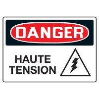 Enseignes de Sécurité - Danger Haute Tension
