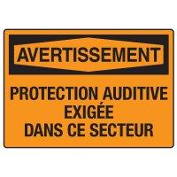 Enseignes de Sécurité - Protection Auditive Exigée Dans Ce Secteur