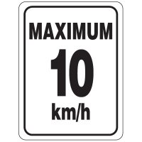 Speed Limit Sign - Maximum 10 km/h