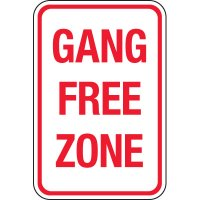 Gang Free Zone Signs