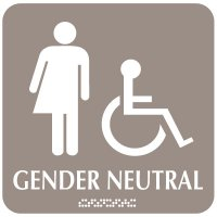 Gender Neutral Washroom Signs