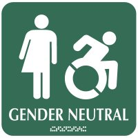 Gender Neutral Restroom Sign - Dynamic Accessibility