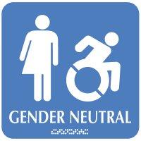 Gender Neutral (Dynamic Accessibility) - Optima ADA Restroom Signs