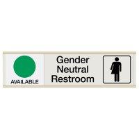 Gender Neutral Restroom Engraved Sliders - Available/In Use
