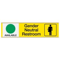 Gender Neutral Restroom Engraved Sliders - Available/In Use