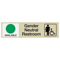 Gender Neutral Restroom Sign with Sliders