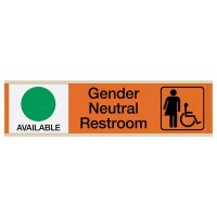 Gender Neutral Restroom Sliders W/ Accessibility Available/In Use