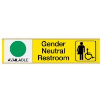 Gender Neutral Restroom Sign with Sliders