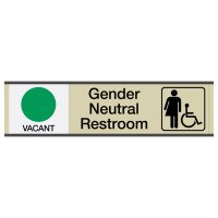 Gender Neutral Restroom Signs w/ Sliders - Vacant/Occupied