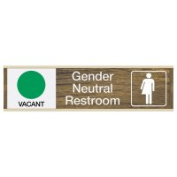 Gender Neutral Restroom Available/In Use - Engraved Restroom Sliders