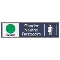 Gender Neutral Restroom Available/In Use - Engraved Restroom Sliders
