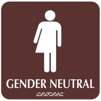 Gender Neutral with Graphic - Optima ADA Restroom Signs