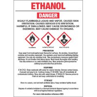 GHS Chemical Labels - Ethanol