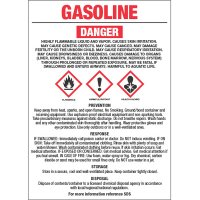 GHS Chemical Labels - Gasoline